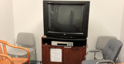 Snell Library media viewing room