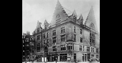 YMCA building on the corner of Boylston and Berkeley Streets, Northeastern Unive