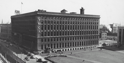 YMCA building on Huntington Ave. beside the quadrangle of Northeastern, 1943.