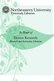 In Honor of Donna Kennedy, Research & Instruction Librarian