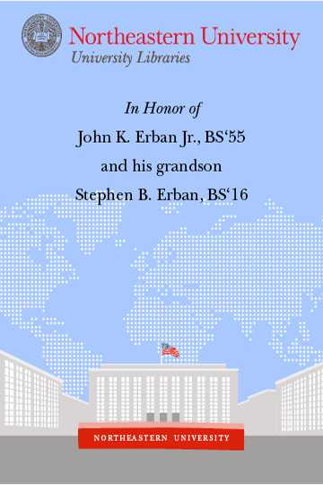 In Honor of John K. Erban Jr., BS'55 and his grandson, Stephen B. Erban, BS'16