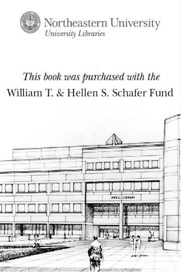 This book was purchased with the William T. & Hellen S. Schafer Fund
