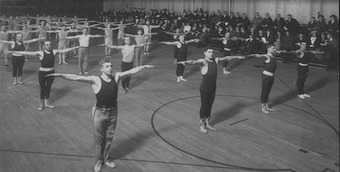 The gym at the huntingon YMCA