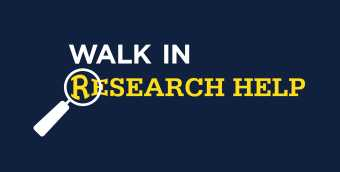 Walk in research text with magnifying glass