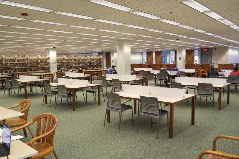 Photo of newly renovated study space on the third floor