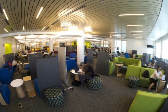 Snell Library's new first floor